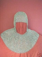 Chainmail Coif Butted Zink Plated