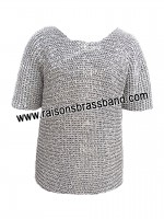 Chainmail Shirt Flat Riveted Chain Mail L Size 9 mm