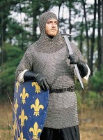 Chainmail Hauberk with Coif