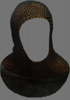 Chainmail Coif Butted Blackend Large Size