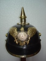 German Pickelhaube Helmet Leather German Helmet