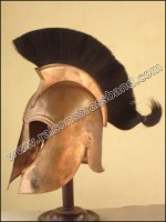 Trojan Helmet, Troy Helmet Trojan Helmet Copper Finish Black Plu