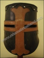 CRUSADER HELMET LEATHER Ancient Knight Helmet