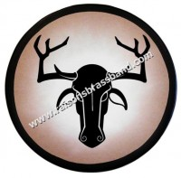 Wooden Greek Stag Shield