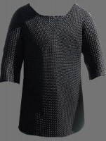 Chainmail Haubergeon Butted Blackened XL Size