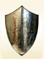 Medieval Iron Lion Shield SCA Shields