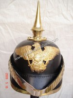 Prussian Helmet, German Pickelhaube Helmet Long Spiked