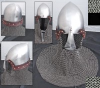 Dutch Helmet With Large Nasal And Aventail