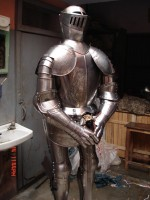 European Knight Suit of Armour Etched RSA-04