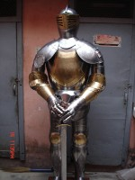 European Knight Suit of Armour Brass Etched