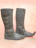 Bottes Cuir Pointues Longues Chaussures