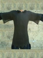 Viking Chainmail Shirt Butted XL Size Blackended RCM15