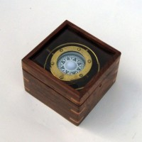 Brass Gimble Compass with Box