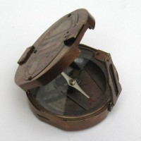 Brunton Compass with box Brass Antique