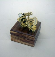 Sextant with Wooden Case
