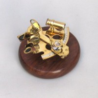 Brass Sextant, Wooden Base