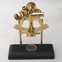 Solid Brass Sextant on Compass
