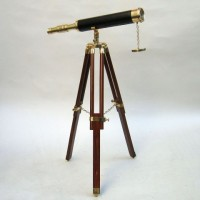 Brass Telescope, Wooden Stand