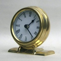 Brass Clock, Batteries Not Incl.