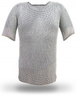 Flat Riveted Stainless Steel Chainmail Hauberk M SIZE CFRS04