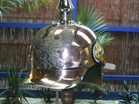 German Pickelhaube Helmet Copper German Helmets