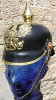German Pickelhaube Helmet Leather