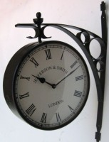 Jefferson & Smith Station Clock, Double Sided