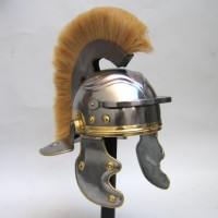 Roman Centurion Helmet with Yellow Plume