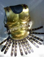 Ancient Muscle Armor Breast Plate Brass Finish