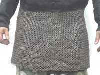 Chainmail Skirt Blackened Riveted 6mm RCM31