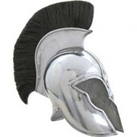 Roman Troy Helmet Steel Finish+B Plume